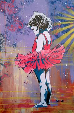 Ballerina Kid by ABC ArtAttack, Bryce Chisholm.  Solo Show at Gallery 3 opening, September 28