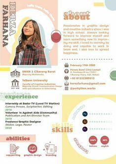 Graphic Design Resume, Graphic Design Posters, Branding Design, Resume Design Template, Cv Inspiration, Graphic Design Inspiration, Cv Original, Cv Curriculum Vitae, It Cv