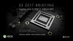 Xbox Project Scorpio will finally get some face time at Microsofts E3 Event This years E3 promises to be a big show  if only thanks to the fact that the gaming conventions organizers are opening it up to the masses. As expected Microsoft is going to add considerable fuel to that fire as well making the mysterious Xbox Project Scorpio a centerpiece to its own big event.  Carve out some time on Sunday June 11th because thats when the company plans to shed more light on the high-powered console…