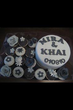 Cupcakes & cake combination