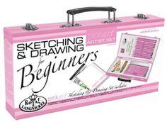 Royal & Langnickel Pink Art Beginner Artist Sketching and Drawing Wood Box Set - Go Shop Crafts Beginner Sketches, Beginner Art, Gifts For An Artist, Pink Art, Wood Boxes, Best Artist, Artist Painting, Art For Kids, Sketching