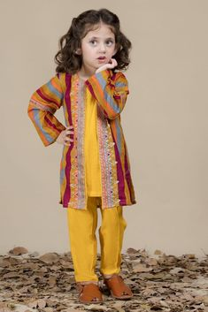 Kayseria Best Winter Dresses Collection contains stitched & unstitched variety of suits, Pret shirts, piece fabrics & Ladli for little girls Girls Dresses Sewing, Stylish Dresses For Girls, Wedding Dresses For Girls, Little Girl Dresses, Baby Dresses, Lovely Dresses, Baby Girl Dress Design, Dress For Girl Child, Kids Dress Wear