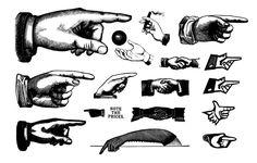 Retro Hands Vectors - Free Vector Site | Download Free Vector Art, Graphics