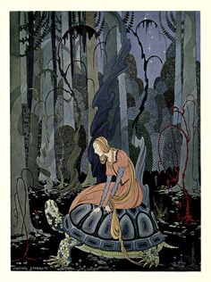 Virginia Frances Sterret, They were three months passing through the forest Illustration from Old French Fairy Tales retold by Comtesse de Ségur, 1920 Art And Illustration, Fairy Tale Illustrations, Botanical Illustration, Illustration Children, Fantasy Kunst, Fantasy Art, French Fairy Tales, Drawn Art, Fairytale Art