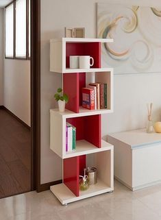 60 Best Of Corner Shelves Ideas 047 Bookshelf Design, Wall Shelves Design, Unique Wall Shelves, Cube Shelves, Room Interior, Interior Design Living Room, Kitchen Interior, Home Decor Furniture, Furniture Design