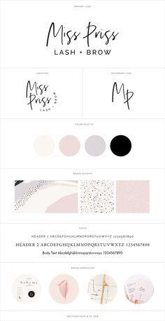 Brand Identity for Miss Priss Lash & Brow in Olympia, WA - corporate branding design Identity Design, Visual Identity, Brand Identity, Brochure Design, Business Branding, Branding Kit, Corporate Design, Corporate Identity, Logos Photography