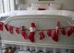 decoracion de camas en navidad - Buscar con Google
