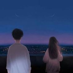 TwoBLUE | #blue . Alone together | A Quiet #mind | #creative #artwork w/ #color #lighting & #animation | #simple but #free | STAY Cute Couple Art, Anime Love Couple, Cute Anime Couples, Aesthetic Art, Aesthetic Anime, Anime Love Story, Wallpaper Fofos, Anime Couples Drawings, Couple Wallpaper