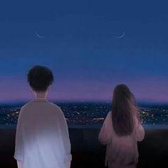 😍😘😗 Cute Couple Art, Anime Love Couple, Cute Anime Couples, Aesthetic Art, Aesthetic Anime, Wallpaper Fofos, Anime Couples Drawings, Couple Wallpaper, Anime Scenery