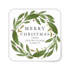 Shop Winter Sprigs Christmas Sticker created by Whimzy_Designs. Christmas Labels, Holiday Gift Tags, Personalized Christmas Gifts, Christmas Stickers, Christmas Gift Wrapping, Diy Christmas Ornaments, Christmas Greetings, Holiday Cards, Modern Christmas