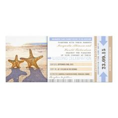 Shoppingstarfish beach boarding pass wedding invitationsso please read the important details before your purchasing anyway here is the best buy
