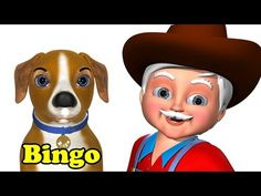 Bingo Nursery Rhyme - 3D Animation Rhymes & Bingo Dog Songs for Children - YouTube