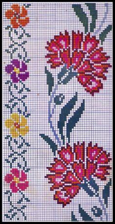 Cenefas de claveles y florecitas