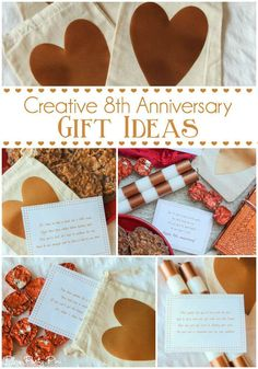 Love these fun anniversary gift ideas, especially the printable scavenger hunt based on traditional anniversary gifts! Such a cute idea any guy would love! Creative Anniversary Gift Ideas For Him Anniversary Ideas For Her, Second Year Anniversary Gift, Bronze Anniversary Gifts, 8th Wedding Anniversary Gift, Boyfriend Anniversary Gifts, Dating Anniversary, Boyfriend Birthday, Christmas Gifts For Boyfriend, Boyfriend Gifts