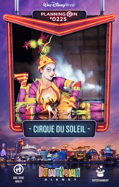 Walt Disney World Planning Pins: Cirque Du Soleil  my FAVORITE