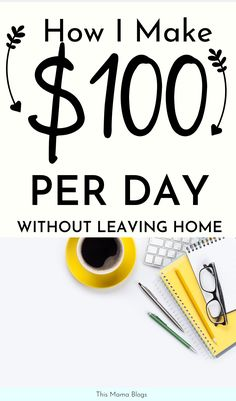 Want to make money from home or make money online Make 100 per day with these fantastic side hustle ideas Learn more stay at home mom jobs side hustle ideas extra cash side hustle ideas for moms # Earn Money From Home, Make Money Fast, Earn Money Online, Make Money Blogging, Saving Money, Saving Tips, Money Today, Online Earning, Making Money At Home