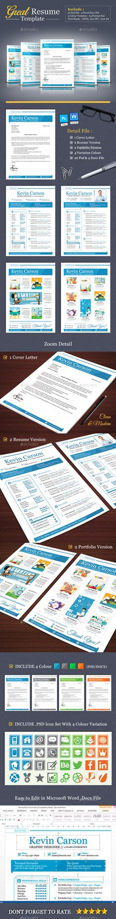Stylish Blue Resume - Feminine \ Professional Microsoft Word - template for resume microsoft word