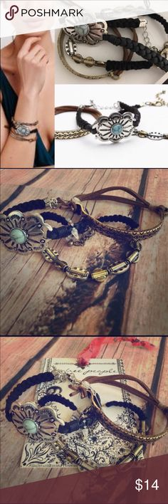 Free People Southwestern Bracelet Set New without tags; Free People overstock - 3 bracelet set- Free People paper tag in background is not included. Free People Jewelry Bracelets