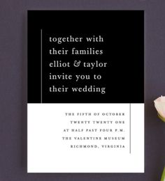 20 Minimal Wedding Invitations - Evermore Invitation from Minted - Card Box Wedding, Wedding Stationary, Wedding Thank You Cards, Wedding Paper, Wedding Invitations, Invites, Wedding Chair Signs, Rustic Wedding Signs, Wedding Table Numbers