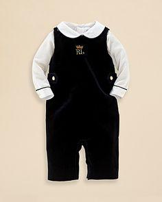 Ralph Lauren Childrenswear Infant Boys' Bodysuit & Overall Set - Sizes 3-9 Months | Bloomingdale's