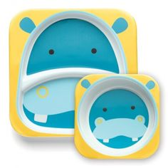 Skip Hop Zoo Melamine Dinner Set, Hippo by Skip Hop Feeding Baby Solids, Solids For Baby, Baby Feeding, Baby Plates, Plates And Bowls, Baby Shower Parties, Baby Shower Themes, Shower Baby, Baby Showers