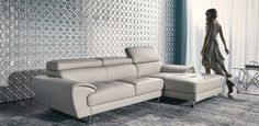 Our leather lounge! (FRANCIS nick scali) but in grey.