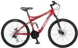 Mongoose Stasis Comp 26-Inch Full Suspension Mountain Bicycle, Matte Red, 18-Inch Frame - http://cyclesuperstore.exercise-equipment-for-home.com/mongoose-stasis-comp-26-inch-full-suspension-mountain-bicycle-matte-red-18-inch-frame/