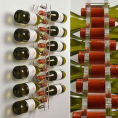 Lucite wall mounted wine racks
