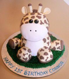 Giraffe Baby's Birthday Cake via Cake Wrecks Giraffe Birthday Cakes, Giraffe Party, Giraffe Cakes, Cute Cakes, Pretty Cakes, Beautiful Cakes, Amazing Cakes, Yummy Cakes, Foundant