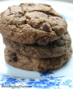 {gluten & dairy free} Soft Double Chocolate Cookies