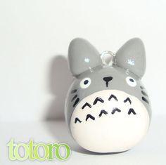 Totoro polymer clay charm - cute kawaii animal polymer phone charm - my neighbor totoro pendant