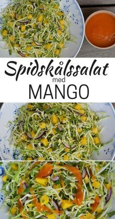 Spidskålssalat med mango - New Ideas Veggie Recipes, Salad Recipes, Vegetarian Recipes, Cooking Recipes, Healthy Recipes, Food N, Food And Drink, Mango Salat, Recipes From Heaven