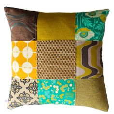 Handgemaakt woonkussen - Handmade Cushion #okergeel