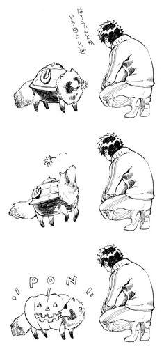 「茶釜たぬきもちょっぴり協力」 同田貫正国 Touken Ranbu, Color Splash, Sword, Monochrome, Otaku, Fairy Tales, Manga, Drawings, Illustration