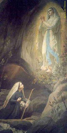 Saint Bernadette and Our Lady of Lourdes