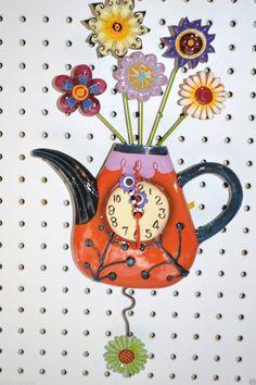 Whimsical Michelle Allen Designs Clock Quot Kettle S On