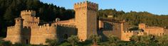 Castello di Amorosa - the only authentic medieval (12th-century) Italian Tuscan castle and winery built in America, officially lowered its drawbridge for business in April 2007. Castello di Amorosa Winery is nestled in the western hills on 171 acres just minutes south of The Napa Valley town of Calistoga. Lots to do in Calistoga: hot springs, geyser, ride pack goats, spas, vineyards, wineries...