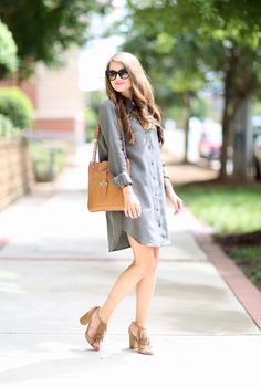 Southern Curls & Pearls: The Perfect Shirtdress…