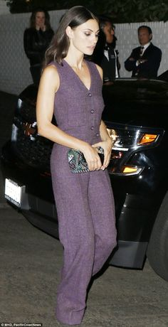 Legs eleven... out of ten! Phoebe Tonkinstepped out in a lavender Chanel jumpsuit on Thursday to attend an exclusive soirée for New York Times' style lift-out, T Magazine, at Chateau Marmont in West Hollywood