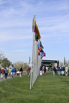 Flags representing the home countries of the players for the 2013 Accenture Match Play in Marana, AZ