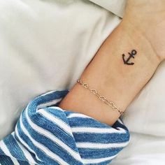 Pin for Later: 30 Tiny, Chic Wrist Tattoos That Are Better Than a Bracelet Anchored