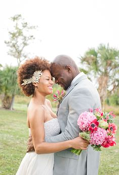 2014 Wedding Hairstyles For Black and African American Women http://beautifulbrownbride.blogspot.com/
