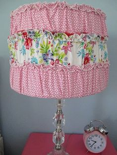 DIY lamp shade cover~LOVE IT!!!