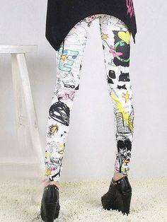 Vintage Toon World Legging by Pink Revolver Retro Cartoons, Revolver, South Korea, Graffiti, Pink, Letters, Japan, Vintage, Collection