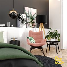 Bring The Outdoors In With Chic Tropical Décor Beautiful Houses Interior, Beautiful Homes, Cozy Bedroom, Bedroom Bed, Bedroom Ideas, Tropical Decor, Make Design, Wooden Flooring, Accent Chairs