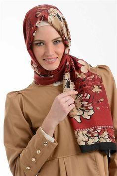 Beril 607 Red multicolored shawl