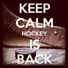 ocphotobug:  Keep Calm. Hockey is back! Today… It all starts again! #hockey #nhl #hockeyisback