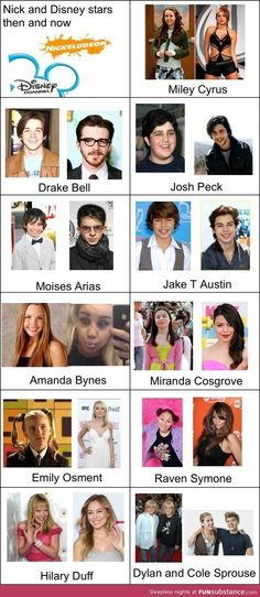 Disney and Nick stars then and now... Moises Arias is horrifying. some are just sad *cough* Miley Cyrus *cough*