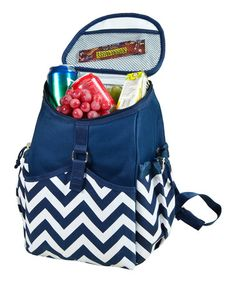 Love this Blue Chevron Cooler Backpack on #zulily! #zulilyfinds