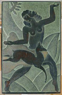 Art Deco Wall -Panel